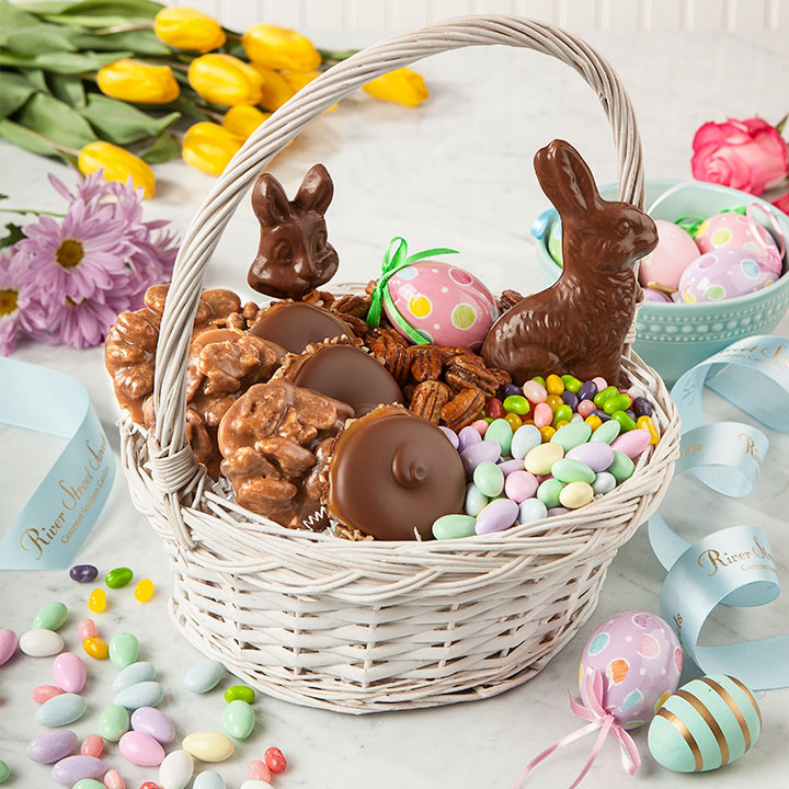 Easter baskets easter spring river street sweets easter baskets negle Image collections