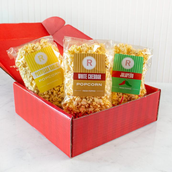 Savory Popcorn Sampler