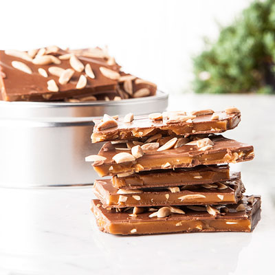 Chocolate Covered Almond Toffee Tin 16oz