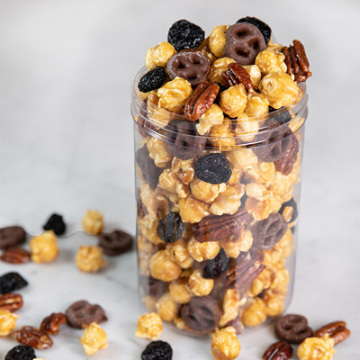 Cherry Pecan Caramel Corn Mix