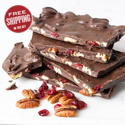Dark Chocolate Cranberry Pecan Bark