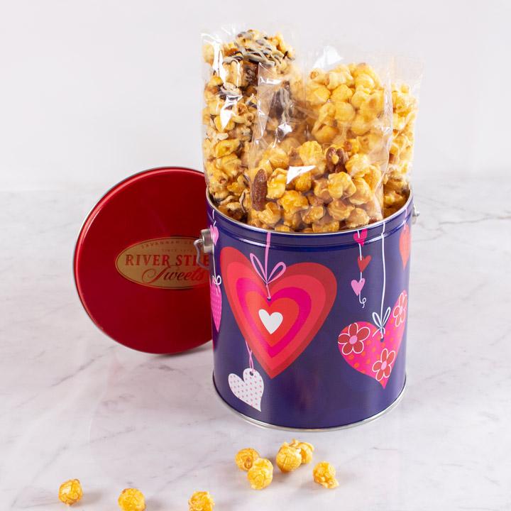 Candied Popcorn Valentine's Day Pail