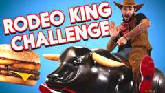 Burger King Rodeo King Challenge ft. Mechanical Bull