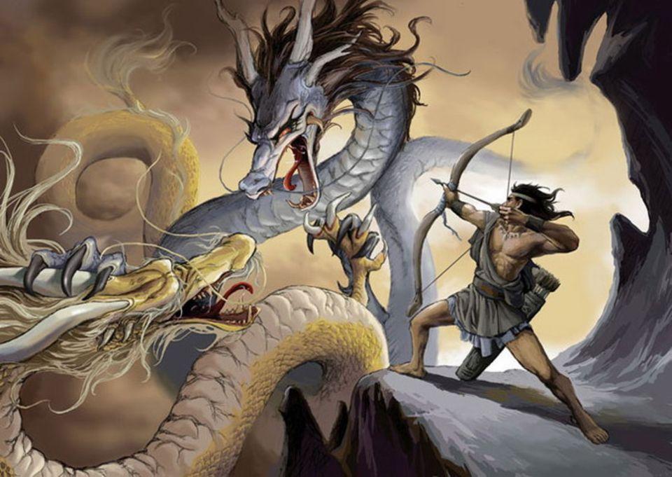 Картинки воин и змей