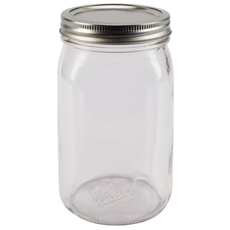 Ball® Smooth-Sided Wide Mouth Quart 32 Oz. Glass Mason Jars - 12 Count