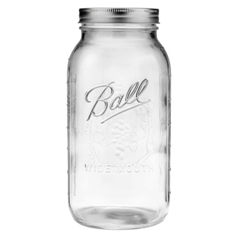 Ball® Wide Mouth Half-Gallon 64 Oz. Glass Mason Jars With Lids And Bands - 6 Count