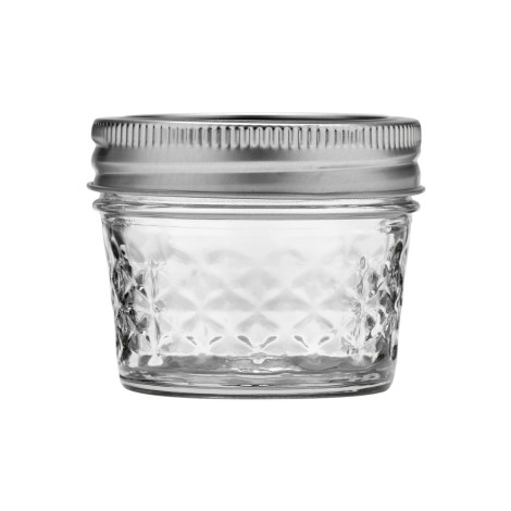 Ball® Quilted Crystal® Regular Mouth 4 Oz. Glass Mason Jars With Lids And Bands - 12 Count