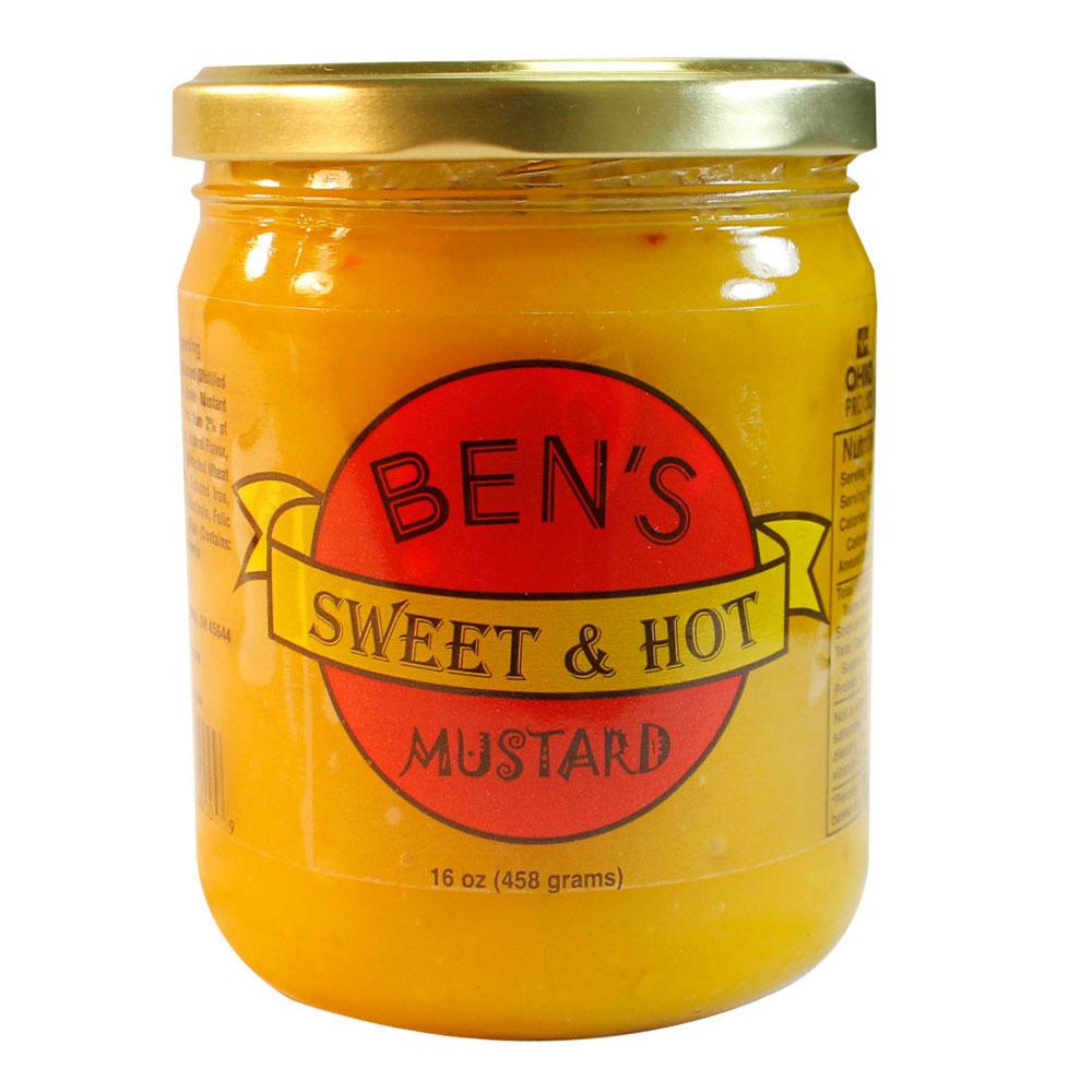 Ben's Sweet & Hot Mustard - Ben's Sweet & Hot Mustard 16 oz. Jar