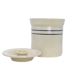 R&H Homestead Stoneware Crocks with Lids - 1 Gallon Crock with Lid