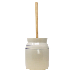 R&H Homestead Stoneware Butter Churn - 2 Gallon Churn