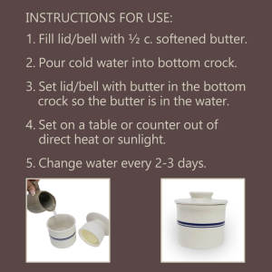 Butter Keeper Crock Instructions