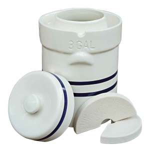 Ohio Stoneware Water Seal Crock Sets - 2 Gallon Water Seal Crock Set