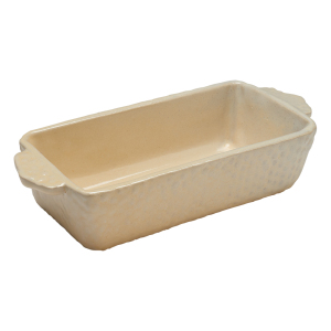 Off-White Loaf Pan by Sienna Ceramics
