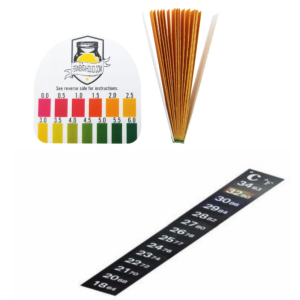 Kombucha Temperature Strips and pH Strips Combo Pack