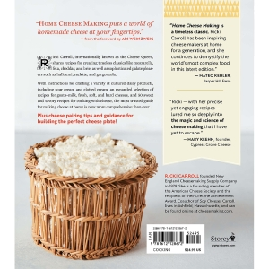 Back Cover - Home Cheese Making Book,  4th Edition