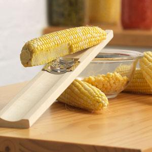 Wooden Corn Cutter and Creamer