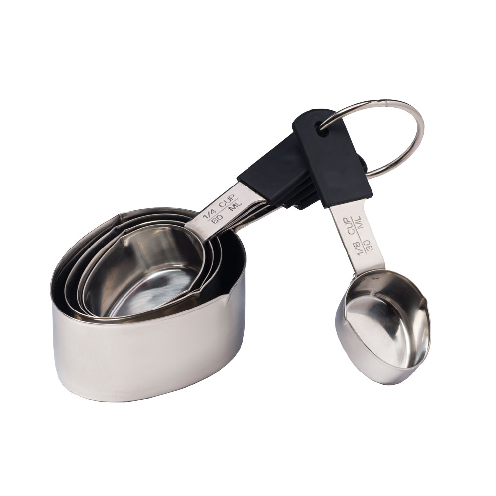 5 pc Grip-Ez Stainless Steel Measuring Cups