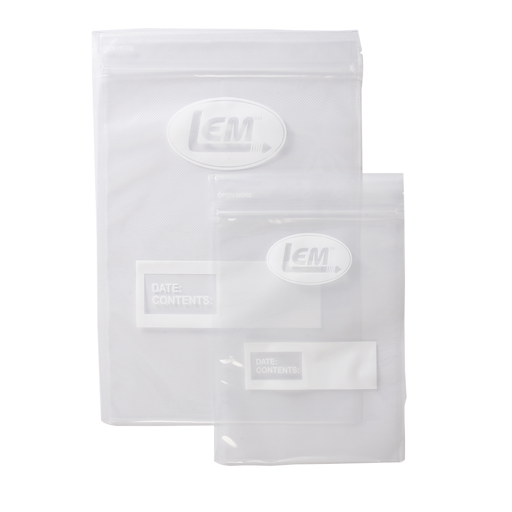 "Zipper Top Vacuum Bags - 11"" x 16"" Gallon Size"