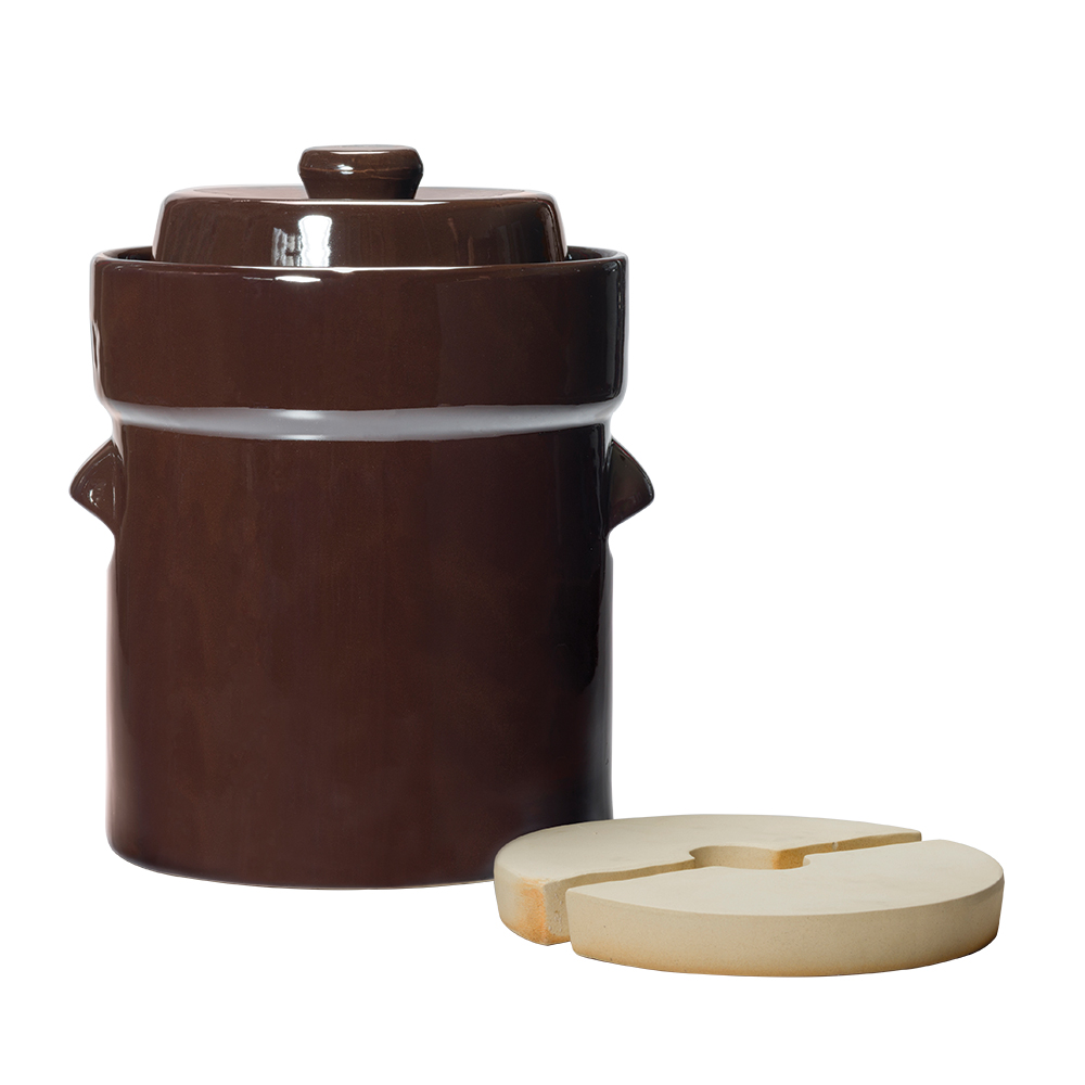 Water-Seal Crock Sets - 5L Fermentation Crock with Lid & Weights