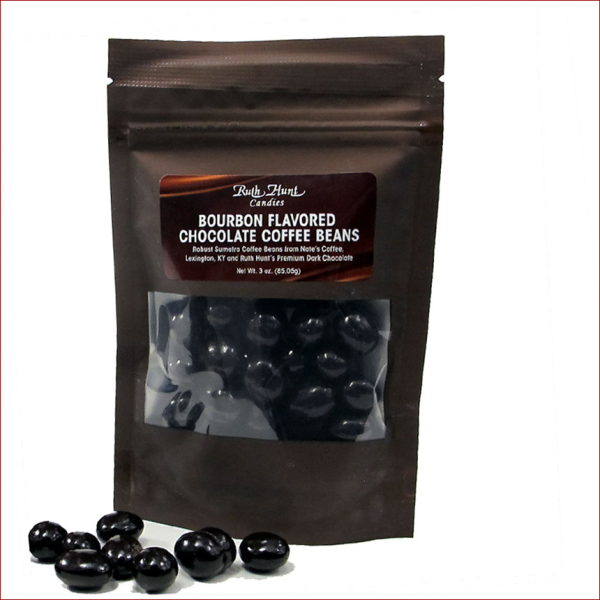 Bourbon Chocolate Coffee Beans,   3 oz. Bag