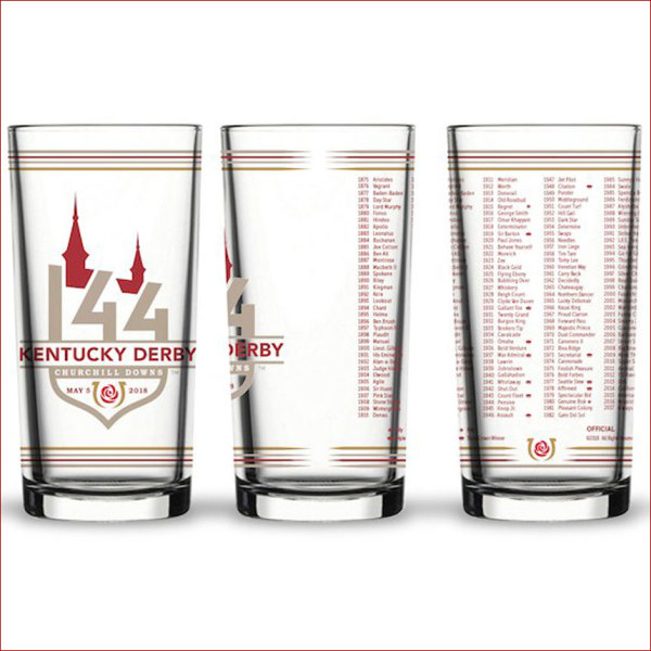 Kentucky Derby 144 Official Glass
