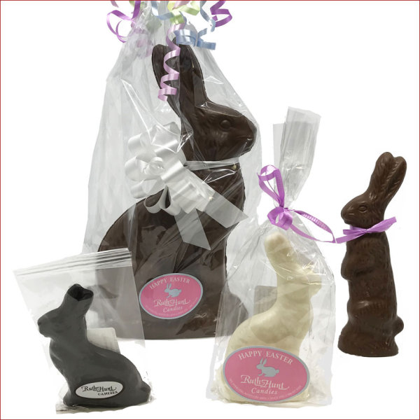 Pure Chocolate Molded Rabbits