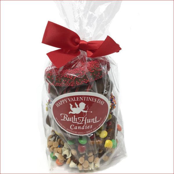 Valentine Gourmet Chocolate Pretzels Stack 8 oz. Bag