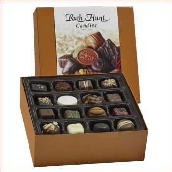 Assorted Chocolates in a Hunt Box - 16 oz. Box