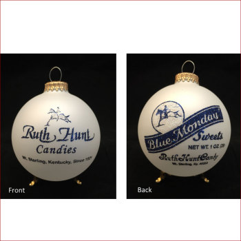 Ruth Hunt Blue Monday Ornament