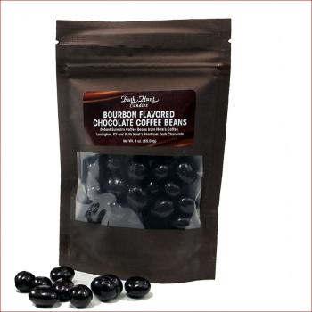 Bourbon Chocolate Coffee Beans,   3 oz. Bag