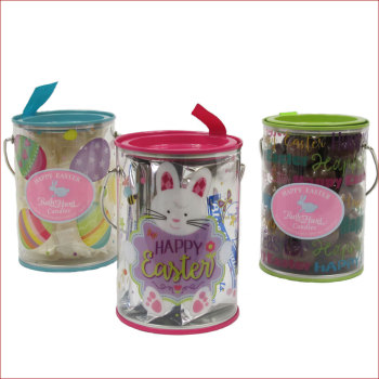 Clear Decorative Easter Pails