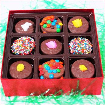 Gourmet Milk Chocolate Covered Oreos Gift Box 18 pc