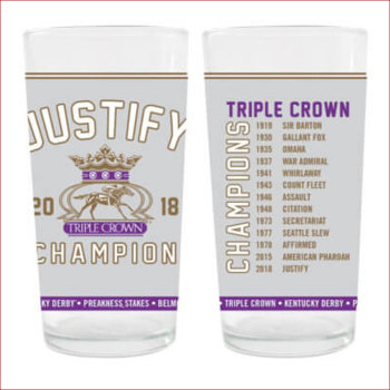 Justify Triple Crown Champion 12 oz. Collector's Glass