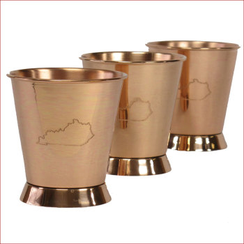 Copper Mint Julep cup with Ky Logo