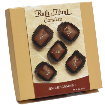 Milk Chocolate Sea Salt Caramels, 8 oz. Box