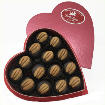 8 oz. Bourbon Balls Red Foil Heart Box
