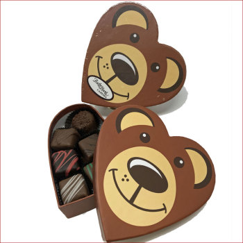 4 oz.  Assorted Chocolates Bear Heart Box