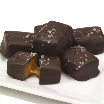 Woodford Reserve® Dark Chocolate Caramels with Sea Salt, 8 oz. Box