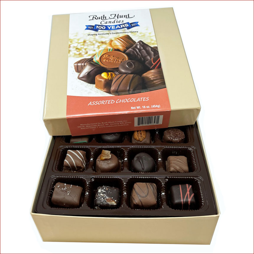 Assorted Chocolates in a Hunt Box - 16 oz. Assorted Chocolates
