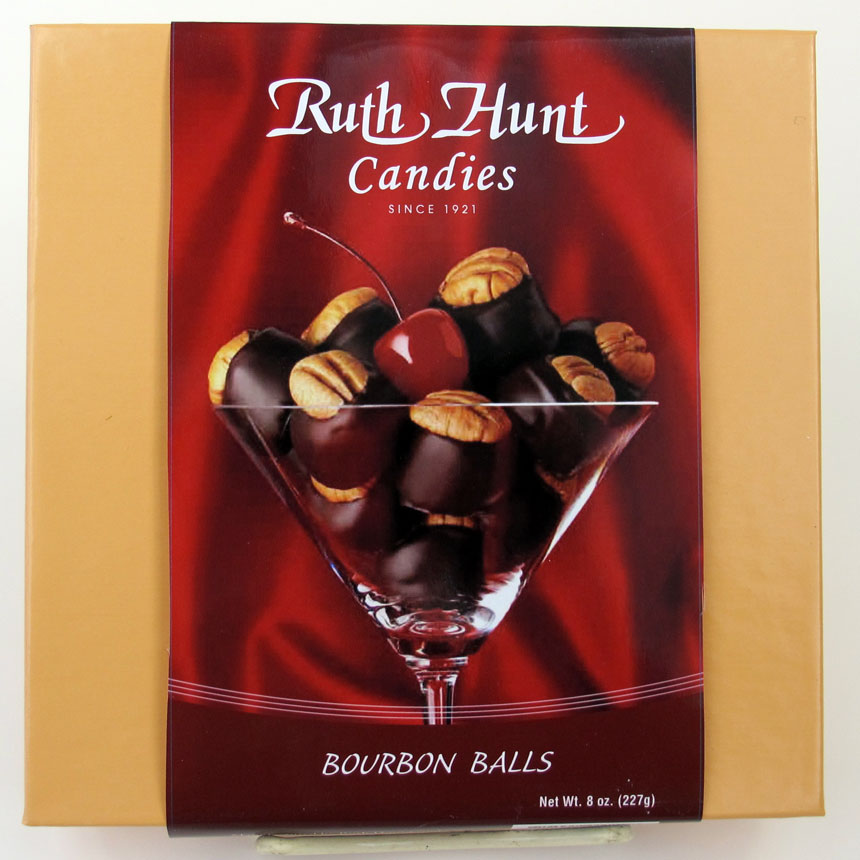 Ruth Hunt Bourbon Balls  - 8 oz. Box & Sleeve