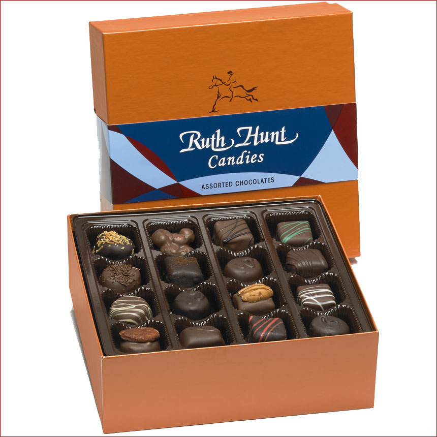 Assorted Chocolates in a Hunt Box - 26 oz. Box
