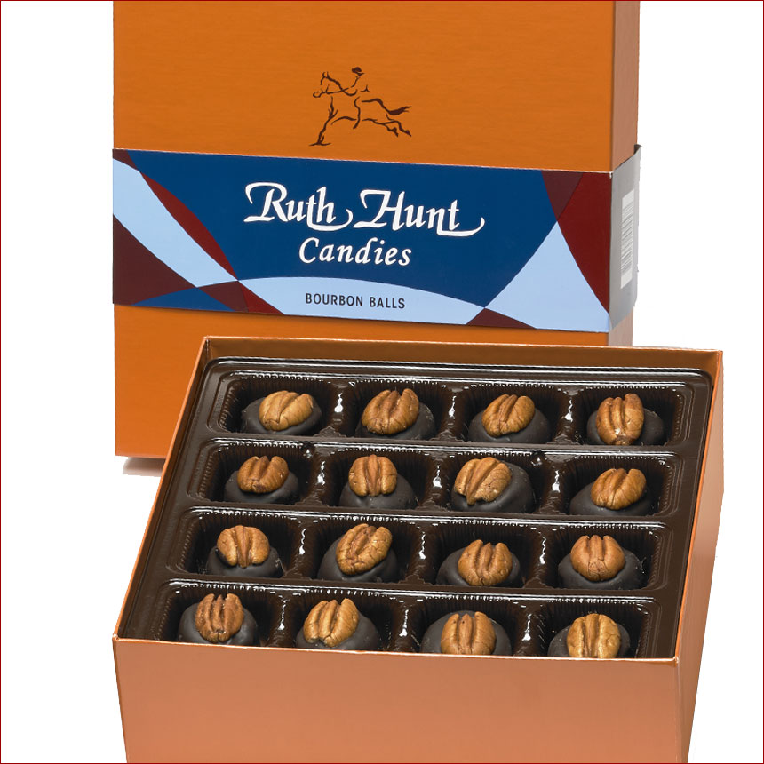Ruth Hunt Bourbon Balls  - 25 oz. Box (50 pcs.)