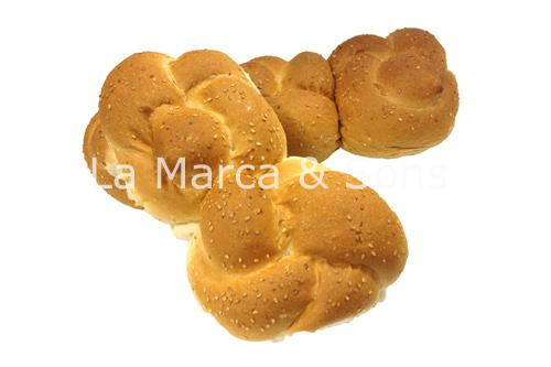 doz. Lg Round Seeded Rolls - EC