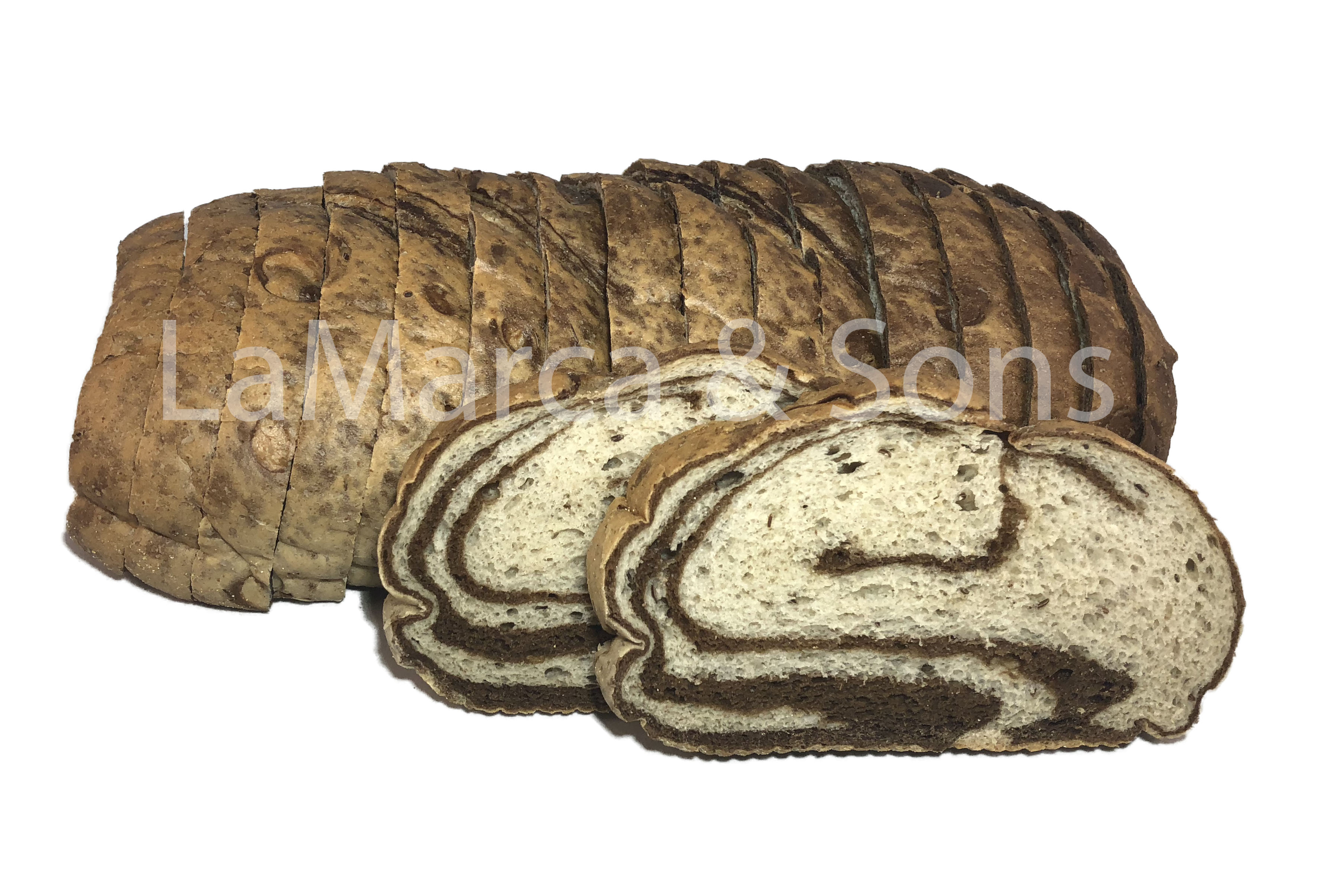 2.5 lb. MARBLE Rye Oval THICK SL-P