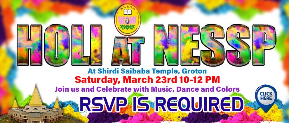 Holi at NESSP March 23rd 2019