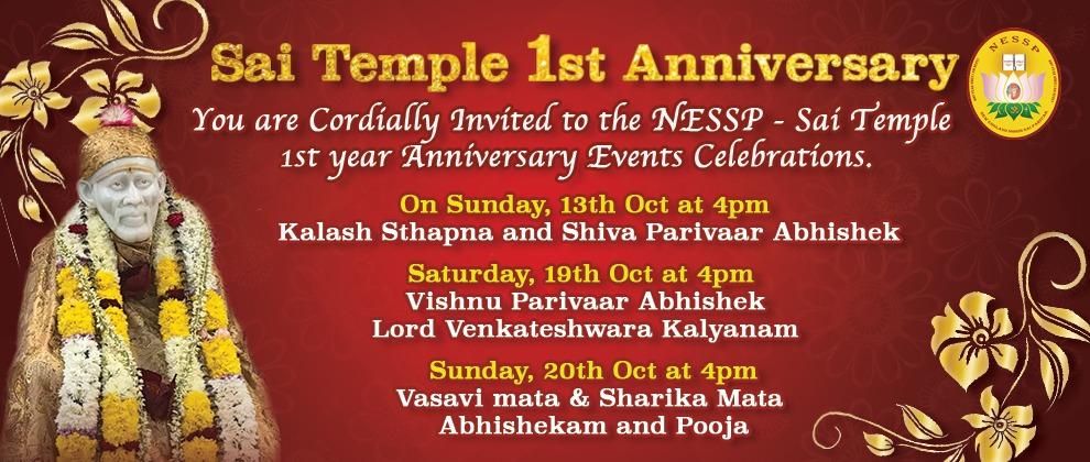 NESSP Temple 1st Anniversary