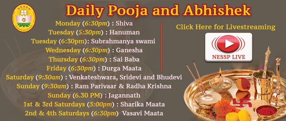 Daily Pooja and Abhishek