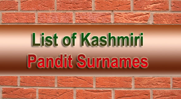 SHEHJAR - Web Magazine for Kashmir :: List of Kashmiri Pandit Surnames