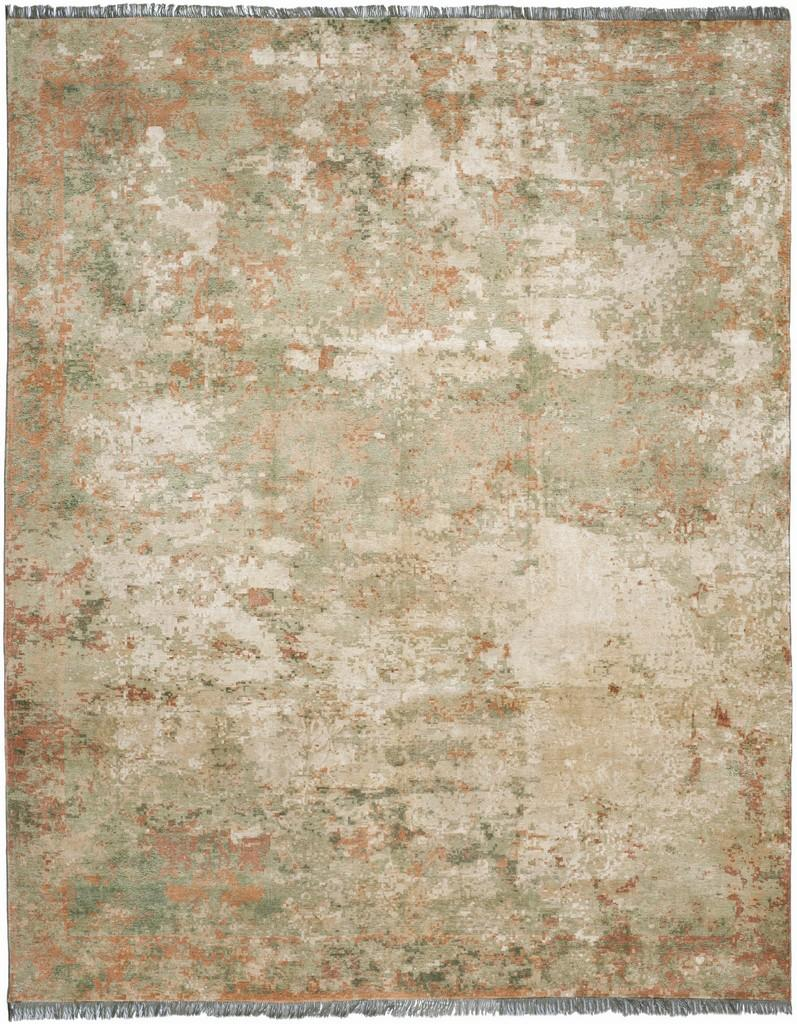 Abstract Green Orange Area Rug Vinyard Collection Safavieh