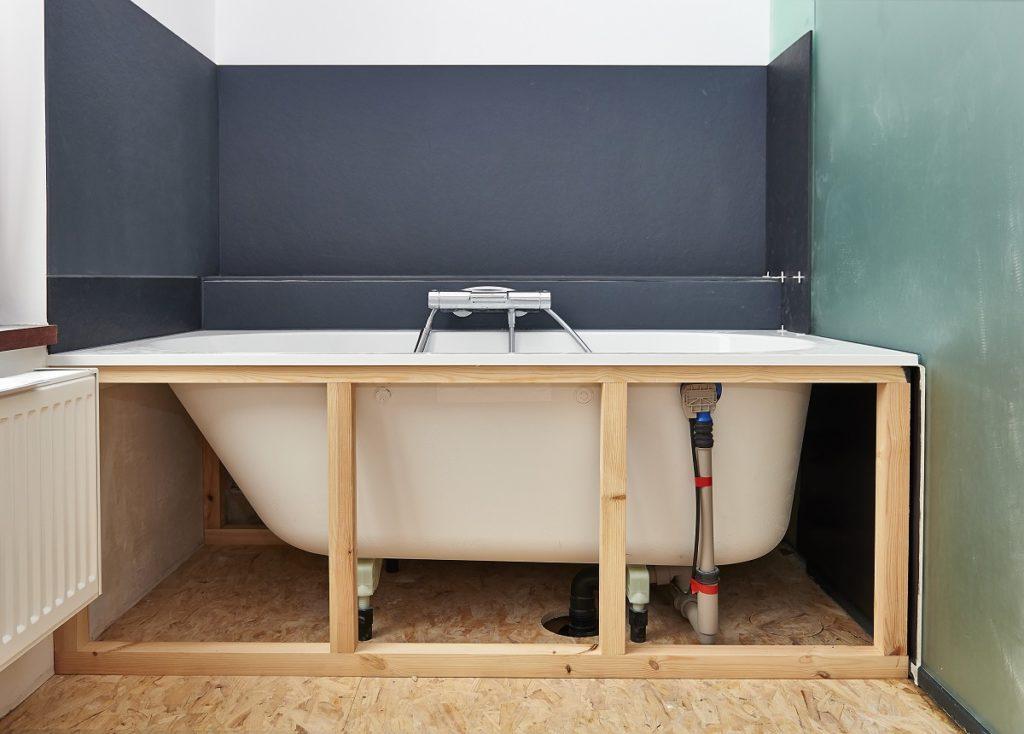 Rendering of walk-in shower-tub combo